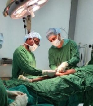 operating with my tanzanian colleague